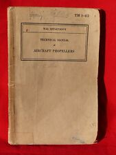 WW2 USAAF 324th P-40 Fighter Pilot KIA Italy 1944 Personal AIRCRAFT PROP MANUAL