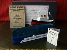 Rare Near Mint T&W 331 Tucher & Walther Tin Wind-up Titanic Mechanical Music Box