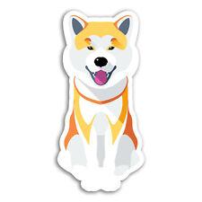 2 x 10cm Cute Shiba Inu Vinyl Stickers - Dog Puppy Akita Sticker Laptop #18440