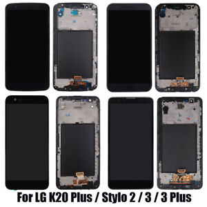 For LG G4 G5 Stylo 2 3 K20 Plus LCD Digitizer Touch Screen Replacement+Frame New