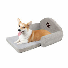 Pet Dog Cat Sofa Bed Soft Cozy Cushion Kennels Dog Cat Cotton Linen Sofa Pad Bed