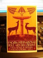 Cartolina 538   II^ Mostra Internazionale Arti Decorative, Monza.   Riproduzione