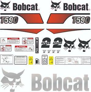 Bobcat T590 V2 Skid Steer Set Vinyl Decal Sticker - 25 PC