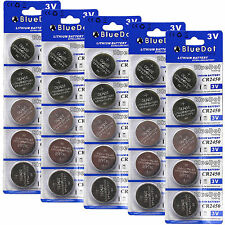 25 CR2450 CR 2450 DL2450 BR2450 LITHIUM COIN CELL BATTERY USA SHIP RETAIL CARDS