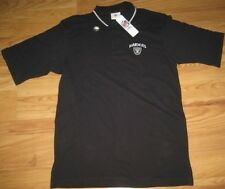 NFL OAKLAND RAIDERS COACHES POLO SHIRT M MEDIUM MED COLLARED GOLF BLACK NEW NWT
