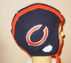 Adult Chicago Bears Helmet Pigskin Style Knit Hat Cap Beanie Mens Womens NFL New
