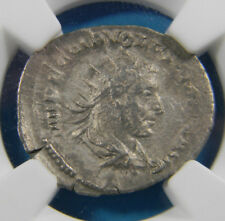 Roman Empire Coin Volusian (AD 251-253), AR antoninianus, Virtus reverse  NGC VF
