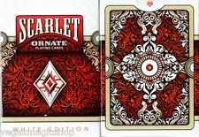 Ornate White Scarlet Deck Playing Cards Poker Size USPCC Custom Limited Sealed