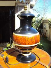 Pieds de lampe du XXe siècle en bois