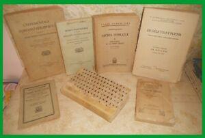 6) LOTTO DI 7 LIBRI ANTICHI 800 & 900 - DIRITTO CANONICO E RELIGIOSI - RARITA'