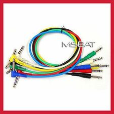"""Patch Cables 1/4"""" Angle/Straight RA/ST 6-Pack 2ft"""