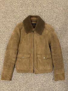 Ralph Lauren Black Label - Aviator Shearling Jacket - Size M - MSRP $3000