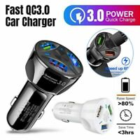 Universal Quick Charge QC 3.0 Car Charger 3 Ports USB Charging Lighting Adapter