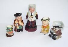 Unboxed British Staffordshire Pottery Toby/Character Jugs