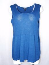 f0c996892ee116 Eileen Fisher Woman 1x Plus Size Sleeveless Top Teal Storm SCPNK Shell