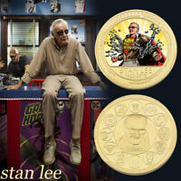 WR Marvel's Father Stan Lee Gold Commemorative Coin Nice Gift For Fans Collect