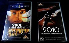 "2 VHS Movies ""2001"" (sn50002) and ""2010"" (sn50591) Australian"