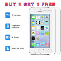 100% GENUINE TEMPERED GLASS SCREEN PROTECTOR  FOR APPLE iPhone SE 5S 5-NEW
