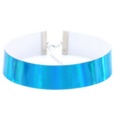 New Fashion Jewelry Holographic Rainbow Choker Collar PU Necklace For Women Gift