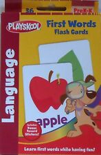 Cards Learning FIRST WORDS Language Playskool Educational Games Flash Deck NEW