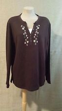 Speculation Women's Sweater Brown Size 2X