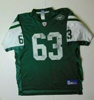Reebok Men XL Dewayne Robertson New York Jets Football Jersey NFL Green #63