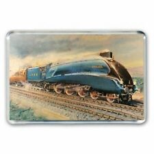 RETRO 1960/'s RAILWAY ART MALLARD EXPRESS TRAIN JUMBO FRIDGE  MAGNET