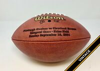 Steelers vs Browns 9/16/01 Heinz Field Inaugural Game NFL Team Issued Footballs