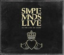 COFFRET 2 CD ALBUM LIVE 14 TITRES--SIMPLE MINDS--LIVE IN THE CITY OF LIGHT--1987