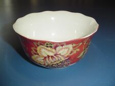 222 Fifth  Gabriele Gabrielle Red Cereal Bowls