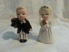 Vintage Bride And Groom Salt And Pepper Shakers