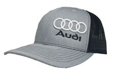 3D AUDI HAT CAP SNAPBACK CURVED BILL(FREE NAME ON CAP)