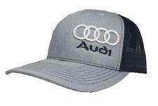 3D AUDI HAT CAP SNAPBACK CURVED BILL(FREE NAME ON CAP)