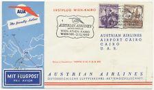 ÖSTERREICH AUA ERSTFLUG 1959 WIEN – KAIRO, Ägypten (Stempel-Nr. 1), AUA SST