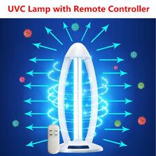 38W UVC Light Ozone Ultraviolet Germicidal Lamp Remote UV Sterilization Quartz E