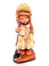 "VTG Anri Sarah Kay (Helping mother) 6"" LTD 1265/2000 Carved Wood Figurine"
