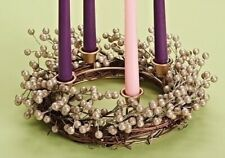 Champagne Berry Christmas Advent Wreath