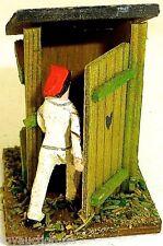 Outhouse Rural Maison Toilette FIGURINE AVEC Rouge Casquette bois Preiser 1:87