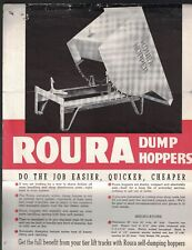 Roura Dump Hoppers ad sheet 1940s Roura Iron Works Detroit Michigan