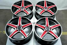 17 5x114.3 5x100 Red Wheels Fits Lexus Mazda 3 6 Is250 Is350 Camry TL 5 Lug Rims