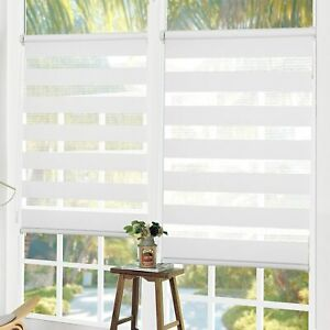 Premium Day and Night Zebra/Vision Window Roller Blinds 6 Sizes 150cm Drop