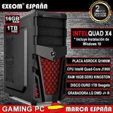 Ordenador Nuevo Pc Gaming Intel Quad Core 9,6GHz 16GB 1TB HD HDMI De Sobremesa