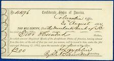 $200 Interim Deposit Receipt – Columbia, South Carolina