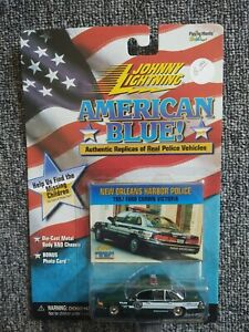 NEW & RARE ~ JOHNNY LIGHTNING NEW ORLEANS HARBOR POLICE 1997 FORD 1:64 DIECAST
