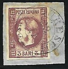 Romania: 1870; Scott 34, Used in paper, clear, good piece XF, EBRU031