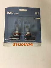 Sylvania Basic H11 55W Two Bulbs Fog Light Replacement Lamp DOT Plug Play Stock