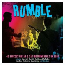 RUMBLE - 40 RAUCOUS GUITAR & SAX INSTRUMENTAL - VARIOUS ARTISTS (NEW SEALED 2CD)