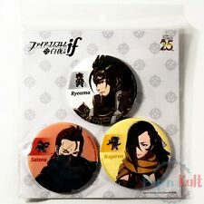 Set Fire Emblem If Fates Badges Ryoma Saizou Kagero Button 25th Anniversary NEW