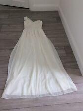 Vestido de fiesta Cotton club Crema Boda/Graduación/, un hombro, talla 10