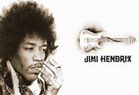 Jimi Hendrix Guitar Blechschild Schild gewölbt Metal Tin Sign 20 x 30 cm